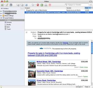 E-Mail alerts screenshot